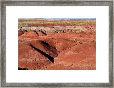 Framed Print featuring the photograph Surreal Red Landscape by Nadalyn Larsen