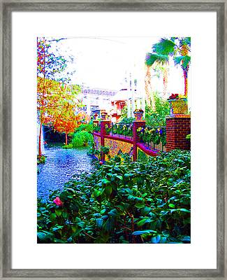 Surreal Scenery Inside The Opryland Hotel In Nashville Tennessee Framed Print