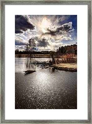Surreal Sky At Sunfish Pond Framed Print by Ed Cilley