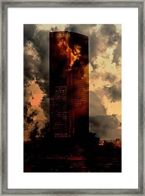 Surreal Sky Scraper Framed Print by Gunter Nezhoda