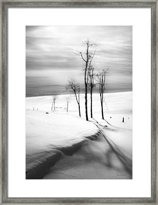 Surreal Snowscape 2 Framed Print by Theresa Tahara