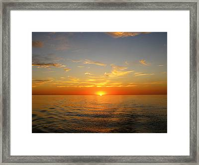 Surreal Sunrise At Sea Framed Print