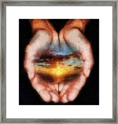 Surreal Sunset Framed Print