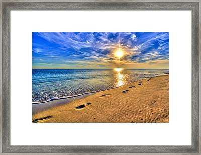 Surreal Sunset On The Beach Framed Print by Five Star Photographics
