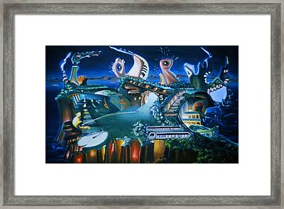 Surrealism's Umbilical Cord Framed Print by Dave Martsolf