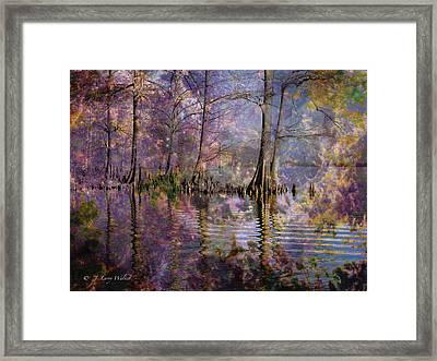 Surrealistic Morning Reflections Framed Print by J Larry Walker