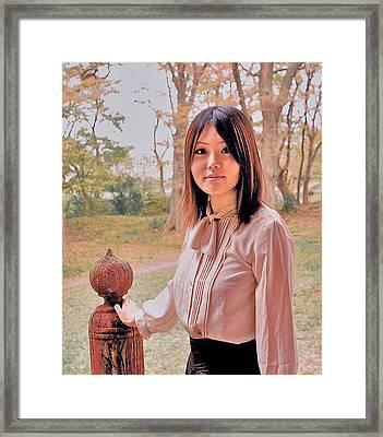 Surrealitic Girl Framed Print