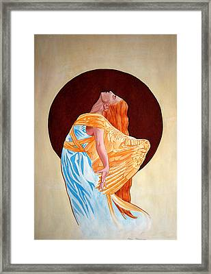 Framed Print featuring the painting Surrender by Leena Pekkalainen