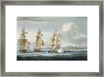 Surrender Of The Fort Of Tamatave Framed Print by Thomas Whitcombe
