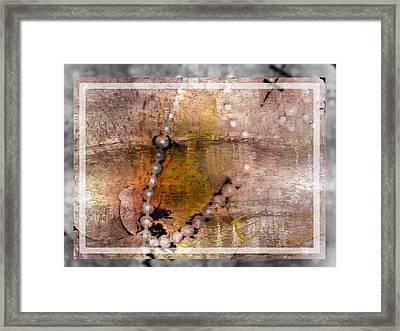 Surrender To Love Framed Print by Ernestine Manowarda