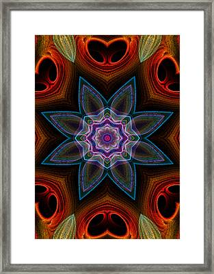 Framed Print featuring the digital art Surround by Owlspook
