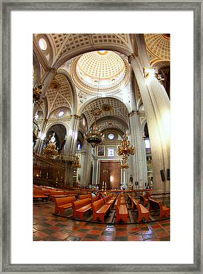 Surrounded By Baroque In Puebla Framed Print