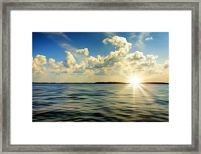 Surrounded By Blue Framed Print