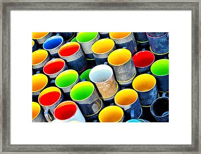 Surrounded By Greed Framed Print