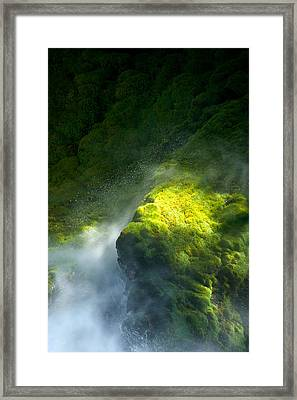 Surrounded By Mist   Vertical Framed Print by Mary Lee Dereske