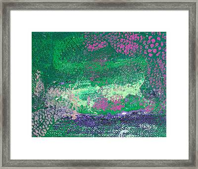 Surrounded By The Garden Framed Print by Donna Blackhall