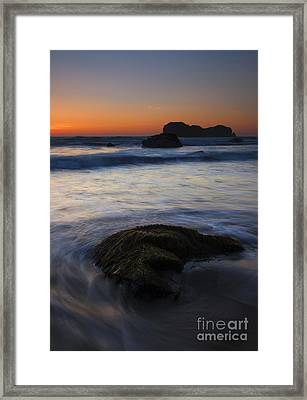 Surrounded By The Tide Framed Print by Mike  Dawson