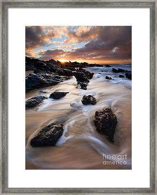Surrounded By The Tides Framed Print