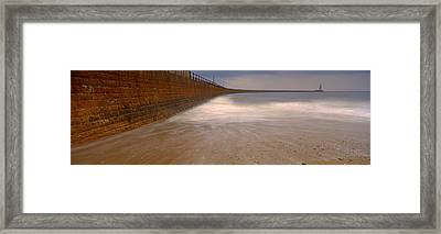 Surrounding Wall Along The Sea, Roker Framed Print