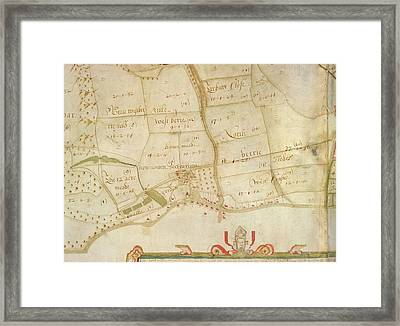 Survey Of West Harting Framed Print by British Library