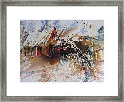 Surviving A Storm Framed Print by Ken McBride