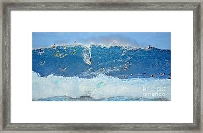 Surviving The Banzai Pipeline Framed Print