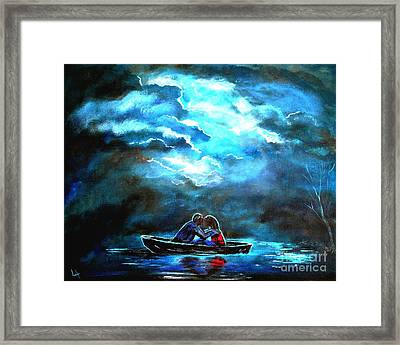 Surviving The Storm Framed Print by Leslie Allen