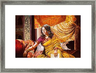 Suryani's Letter Framed Print by Dominique Amendola