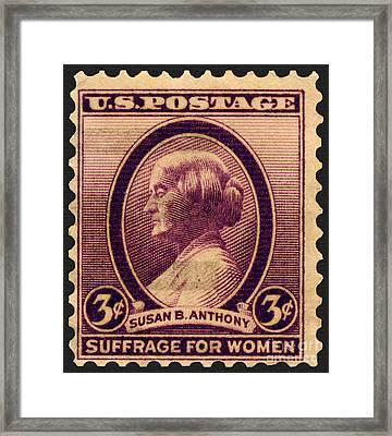 Susan B. Anthony Commemorative Postage Stamp Framed Print