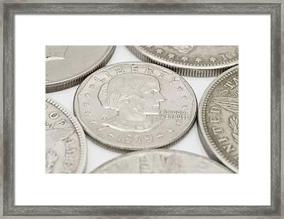 Susan B Anthony Dollar Coin Usa Framed Print