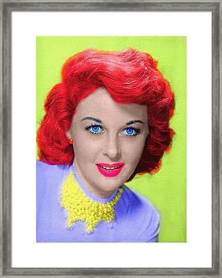 Susan Hayward Framed Print by Art Cinema Gallery