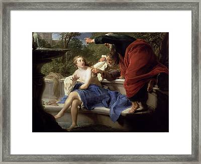 Susanna And The Elders, 1751 Framed Print by Pompeo Girolamo Batoni