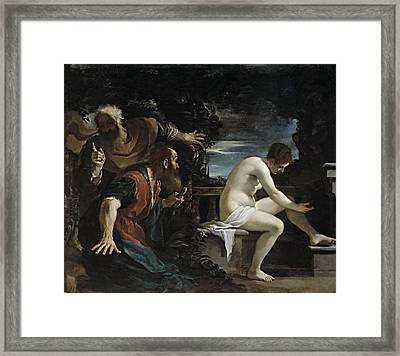 Susanna And The Elders Framed Print