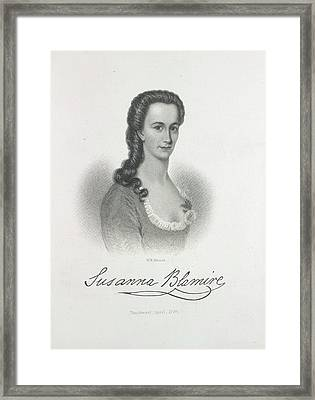 Susanna Blamire Framed Print by British Library