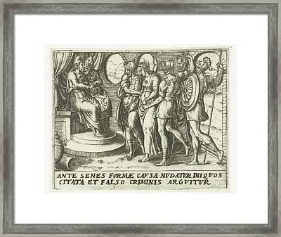 Susanna For Judges, Abraham De Bruyn Framed Print by Abraham De Bruyn
