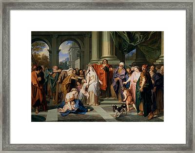 Susannah Accused Of Adultery Framed Print
