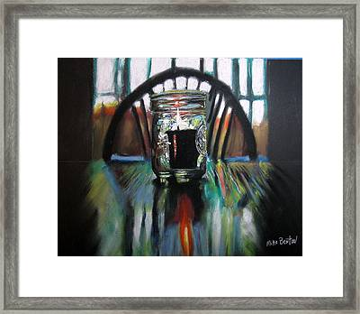 Susan's Candle Framed Print