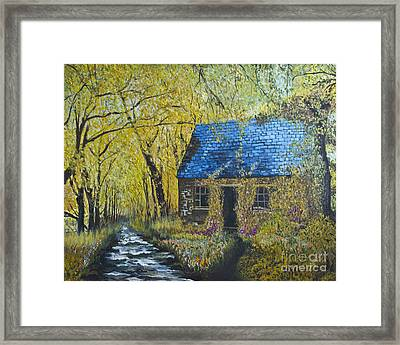 Framed Print featuring the painting Susan's Cottage by Suzette Kallen