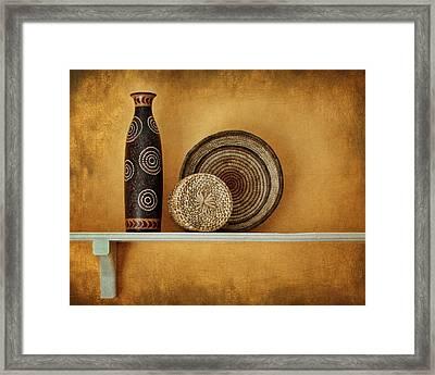 Susan's Shelf - Still Life Framed Print by Nikolyn McDonald