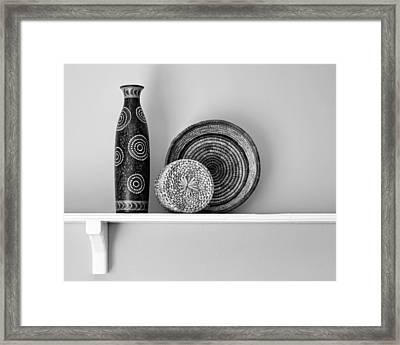 Susan's Shelf - Still Life - Black And White Framed Print by Nikolyn McDonald