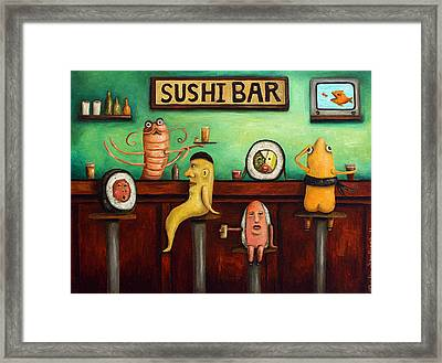 Sushi Bar Improved Image Framed Print by Leah Saulnier The Painting Maniac