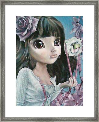 Sushi Girl Framed Print