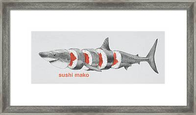 Sushi Mako Framed Print by Eric Fan