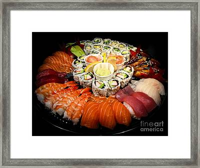 Sushi Party Tray Framed Print by Elena Elisseeva