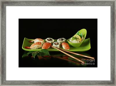 Sushi Seafood Indulgence Framed Print by Inspired Nature Photography Fine Art Photography