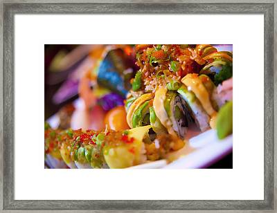 Sushi Framed Print by Shanna Gillette