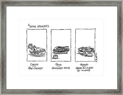 Sushi Spinoffs Framed Print