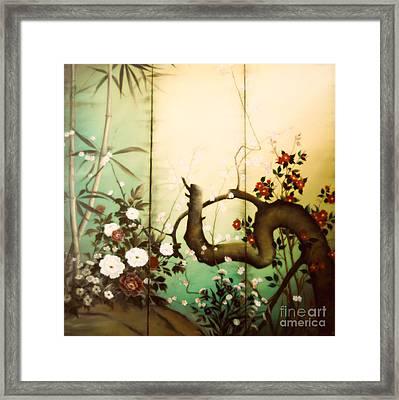 Sunshine In The Garden Framed Print by Sorin Apostolescu