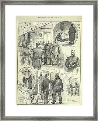 Suspects Arrested Framed Print by British Library