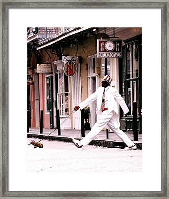 New Orleans Suspended Animation Of A Mime Framed Print